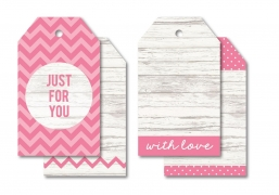 Kaisercraft tag kraft just for you - pink