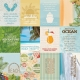 Designpapier - BoBunny beach therapy - paper cruise - double-sided - 30,5x30,5cm