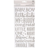 American Crafts - thickers boy silver foil sticker - 158pcs