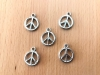 Charms - plastic - silver - Peace Sign