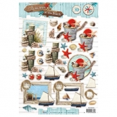 Designpapier gestanzt, Summer at the Beach 61