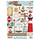 Designpapier gestanzt, Summer at the Beach 67