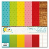 "Paper Set, Good Day Sunshine, Simple Basics Kit, 12"" x 12"" , 6 Bogen"