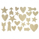 Sticker Burlap Arrow natur