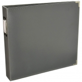 "We R Memory Keepers - faux leather album 12x12"" charcoal"