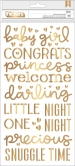 American Crafts - thickers girl gold foil sticker - 151pcs