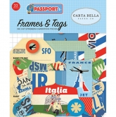 Carta Bella - Passport - Die Cuts - Ephemera - Frames&Tags