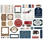 Carta Bella - Cabin Fever - Ephemera Die Cut Cardstock Pieces