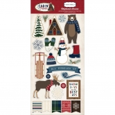 Carta Bella - Cabin Fever - Chipboard Accents - Adhesive Die Cuts