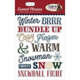 Carta Bella - Cabin Fever - Adhesive Enamel Words & Phrases