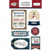 Carta Bella - Cabin Fever - Layered Sticker