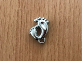 Charms - plastic - silver - Feet