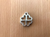 Charms - plastic - silver - Cloverleaf