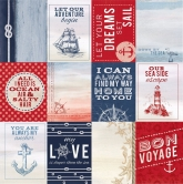 Designpapier zweiseitig, Kaisercraft double-sided 30,5x30,5cm Sail Away Cruise