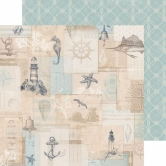 Designpapier zweiseitig, Kaisercraft double-sided 30,5x30,5cm High Tide Ahoy