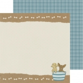 "Designpapier Kaisercraft Pawfect - double-sided 12x12"" puppy"