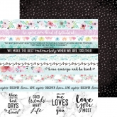 "Designpapier Kaisercraft Wildflower double-sided 12x12"" Gathered"