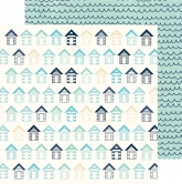Designpapier zweiseitig, Kaisercraft double-sided 30,5x30,5cm Summer Splash Huts