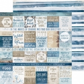 Designpapier zweiseitig, Kaisercraft double-sided 30,5x30,5cm Beach Shack Wave Break