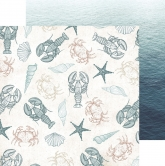 Designpapier zweiseitig, Kaisercraft - Uncharted waters 30,5x30,5cm oceanic