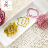 Paperclips Houses & Speech Bubbles