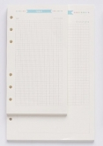 Planner A5 - 6 Holes Loose Leaf Refill Paper Pages - Diary - 40 Sheets