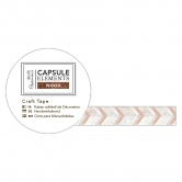 Washi Tape - Holzoptik Bastelklebeband Zick-Zack - Capsule Collection - Elements Wood
