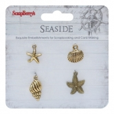 Metal charms set SeaSide - Muscheln