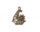 Metal charms set SAILFISH 10 Stück