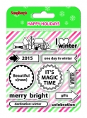 Set of stamps 10,5*10,5cm Happy holiday. I love Winter