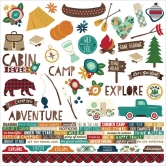 Simple Stories - Cabin Fever - Combo Sticker 12'' x 12''