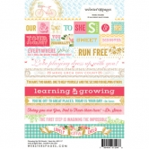 Websterspages Word Growing Up Girl 4X6 Stickers